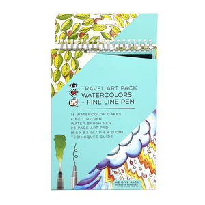 iHeart Art Travel Art Pack Watercolors & Pen