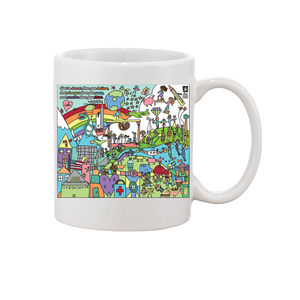 Jones Elementary Art Feeds Mural Mugs