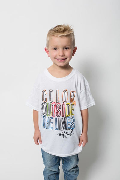 Color Outside the Lines Kids Tee