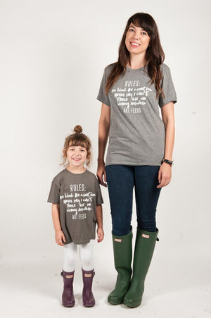 Rules of Art Feeds Kids Tee