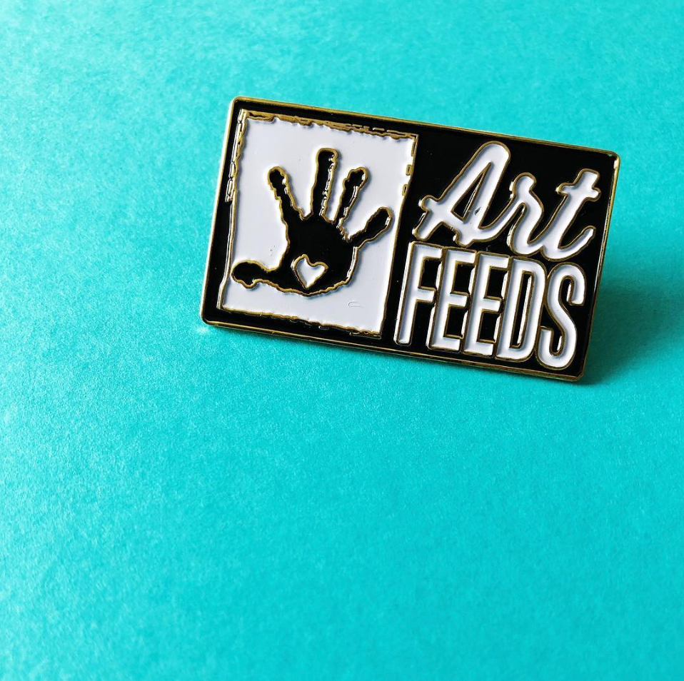 Art Feeds Lapel Pin