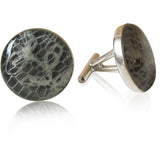 Wedding Lace Cufflinks - Or Any Sentimental Material - Sterling Silver