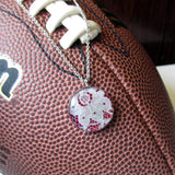Maroon and White GameDay Necklace