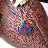 Orange and Blue Lace GameDay Necklace