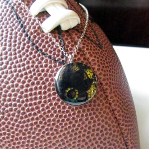 Black and Yellow GameDay Necklace