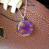 Purple and Yellow GameDay Necklace