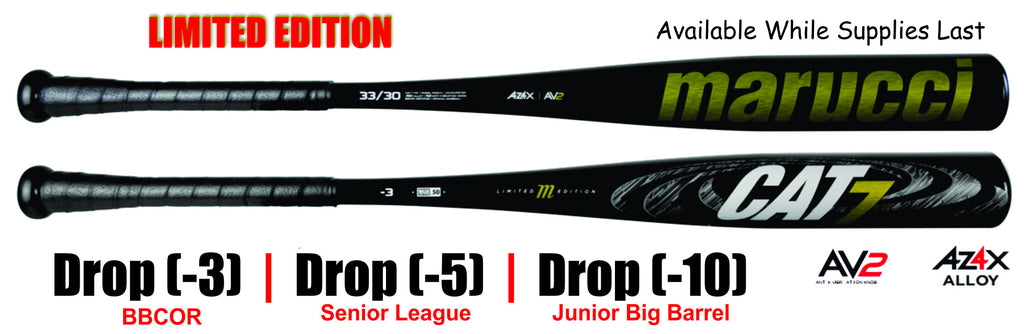 New Black Marucci Cat7 Limited Edition Bat