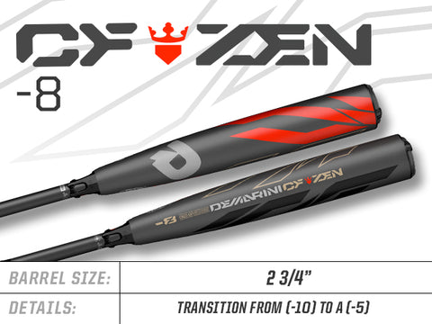 "2019 DeMarini CF Zen (-8) Composite 2-3/4"" Barrel - Texas Bat Company"