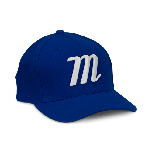 M LOGO STRETCH FIT HAT - BLACK - Texas Bat Company