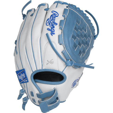 "Liberty Advanced - White | Columbia Blue 12""  Fastpitch Infield, Pitcher Glove RLA120-3WCB-3/0 - Texas Bat Company"