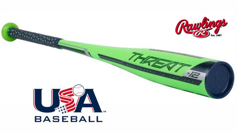 "Rawlings 2018 Threat -12 USA Baseball Bat (2 5/8"") US9T12 - Texas Bat Company"