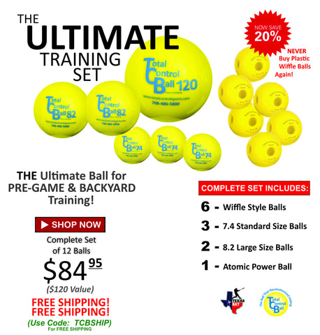 Ultimate Training Set | TOTAL CONTROL BALLS - Texas Bat Company