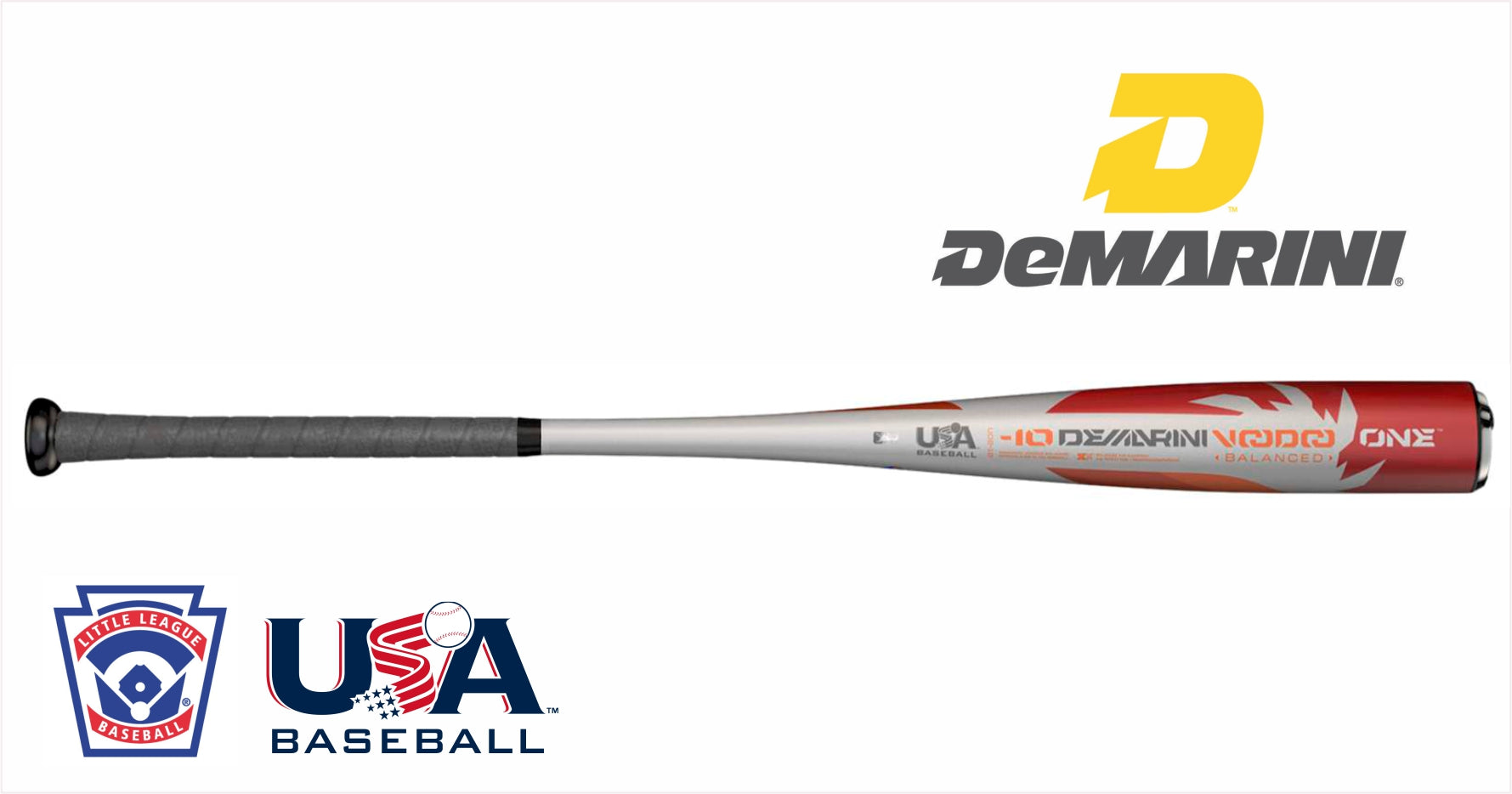 DeMarini 2018 Voodoo One 2 3//4 Balanced Senior League Baseball Bat -10