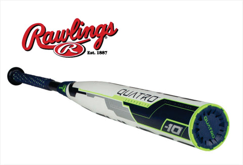 2018 Rawlings Quatro Fastpitch Softball (-10) - Texas Bat Company
