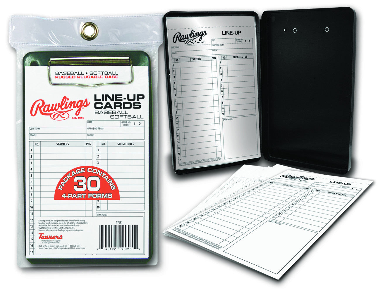 Rawlings System 17 Line Up Card Case W30 Cards 17lcr
