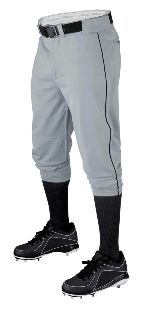 Muscle - (YOUTH)  VETERAN DeMarini Pant - Gray Knicker - Texas Bat Company