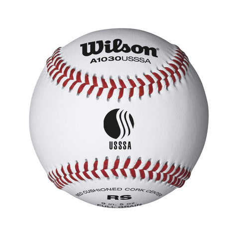 Wilson 1030 USSSA RAISED SEAM BASEBALLS - 12 PACK - Texas Bat Company