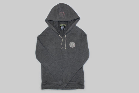 Women's Trademark Eco Fleece Hoodie-Charcoal Grey