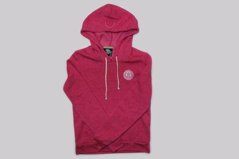 Women's Trademark Eco Fleece Hoodie-Bright Pink