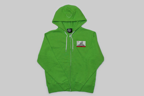 Women's King of L.A. Zip Hoodie-Lime Green