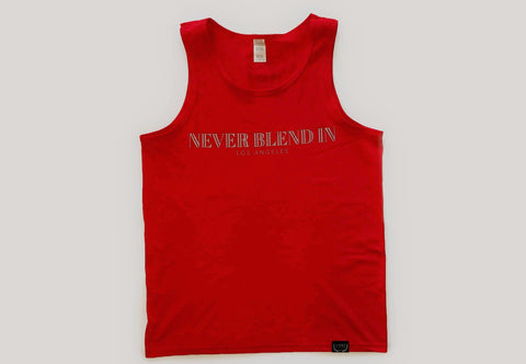 Never Blend In Tank Top-Red