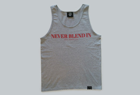 Never Blend In Tank Top-Heather Grey