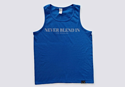 Never Blend In Tank Top-Royal Blue