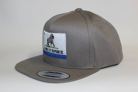 King of L.A. Grey Snapback w/ Blue Accent