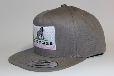 King of L.A. Grey Snapback w/ Pink Accent