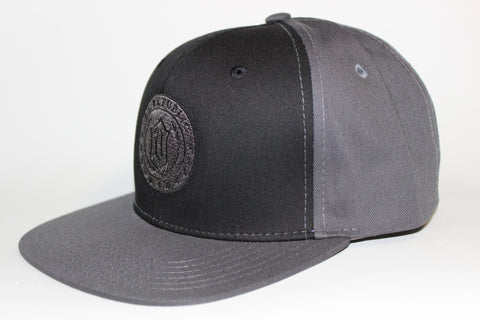 Trademark Black & Grey Snapback