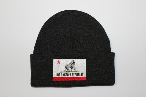 King of L.A. Beanie-Charcoal Grey