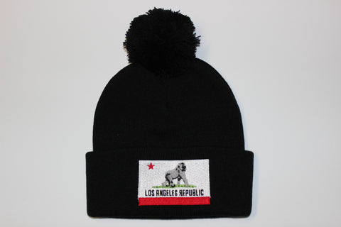 King of L.A. Pom Beanie-Black