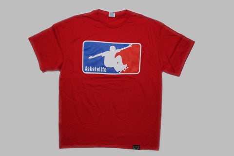 Skatelife T-shirt-Red