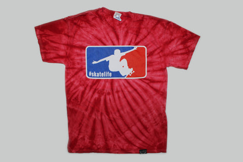 Skatelife Tie Dye T-shirt-Red