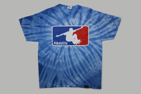 Skatelife Tie Dye T-shirt-Royal Blue