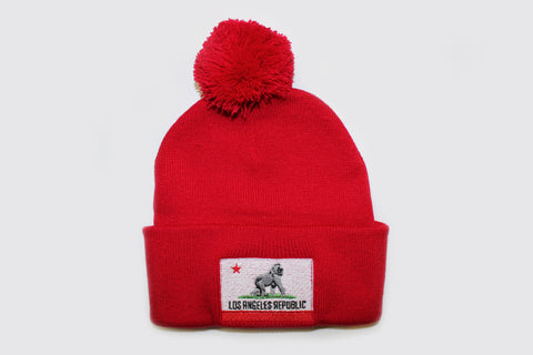 King of L.A. Pom Beanie-Red