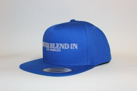 Never Blend In Los Angeles Snapback-Royal Blue