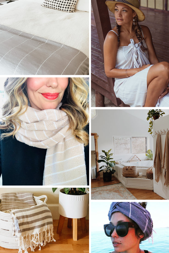 Minimalist living and turkish towels