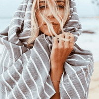 gray turkish towels