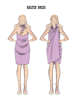 how to wear a turkish towel as a halter dress