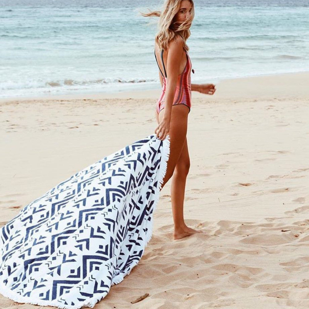 blue roundie towel