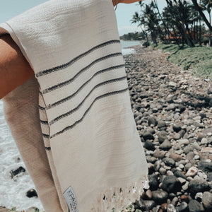 white with grey stripes turlisj towels