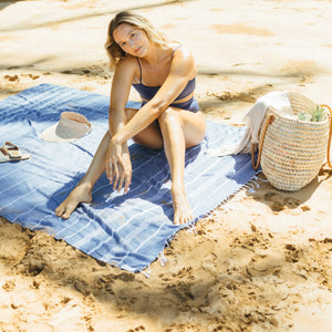blue turkish beach blankets