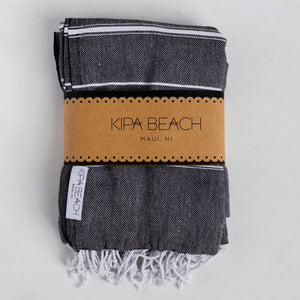 dark gray turkish blankets