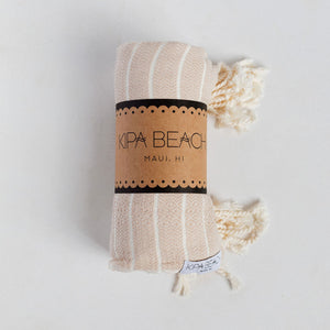 soft beige turkish towel