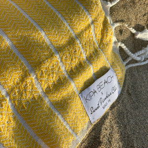 yellow thin bath towels