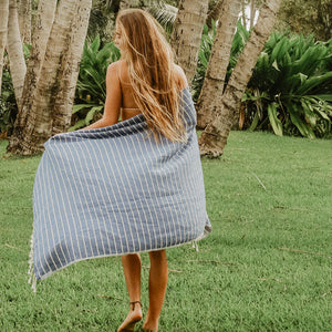 blue turkish towels