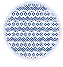 Load image into Gallery viewer, aztec round beach towel