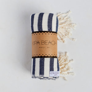 navy white turkish towels