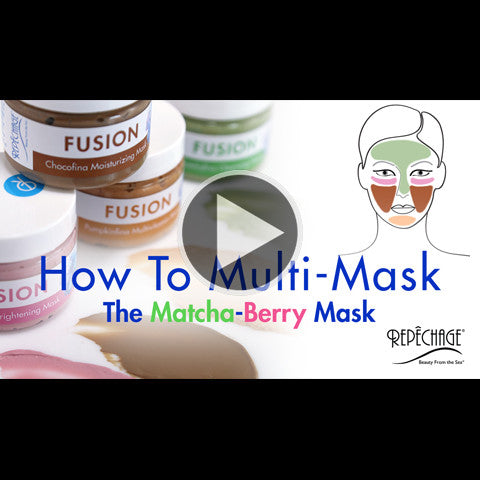 How To Multi-Mask: The Matcha-Berry Mask